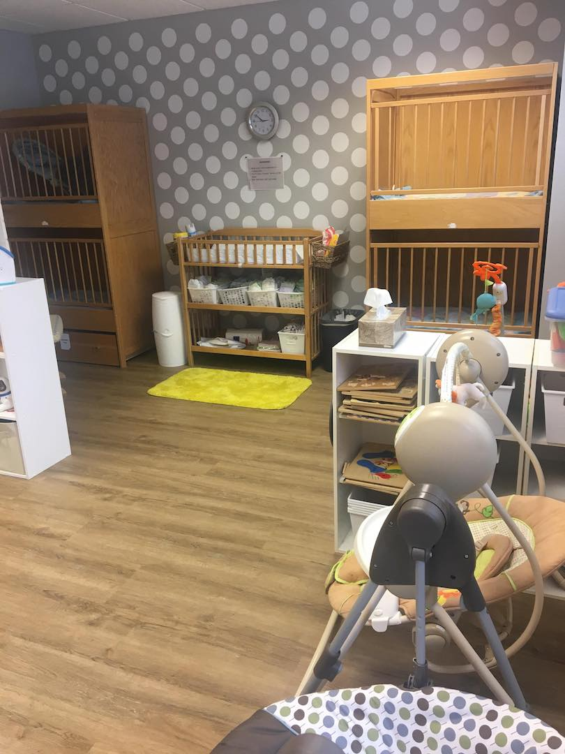 nursery napping area